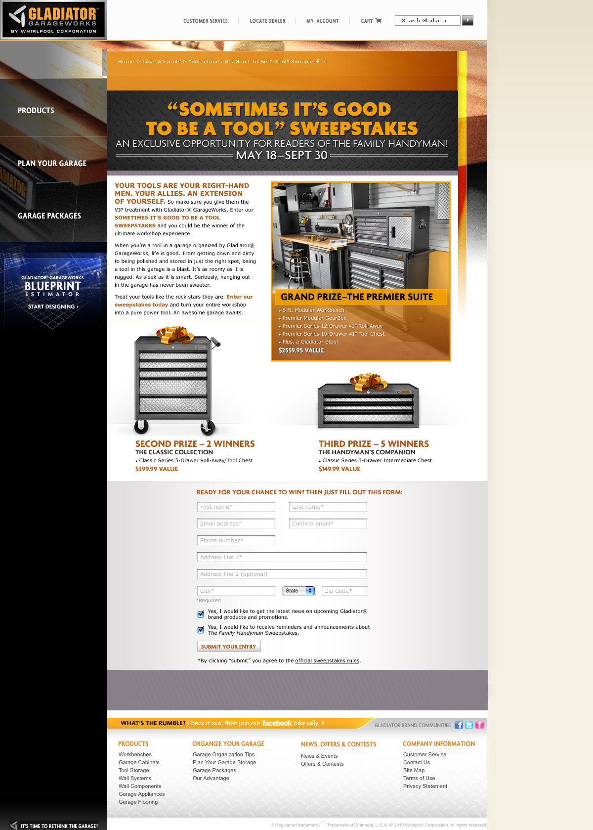 Gladiator garageworks website of bannonpuckett family handyman sweepstakes malvernweather Images